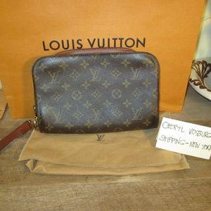 Monogram Canvas Pochette Orsay Clutch Bag